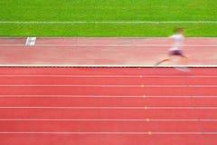Runner in race track. Runner in the race track Stock Photography