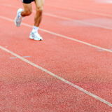 Runner on racetrack Royalty Free Stock Photos