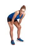 Runner Resting. Female jogger resting after a long run Royalty Free Stock Photos