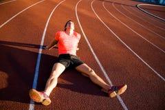 Runner after run Stock Image