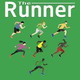 The runner run ran for health happiness jogging sport fitness exercise gym jogging men women shoes training vector illustration