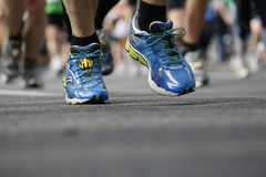 Runner in runners shoes Stock Photos