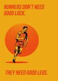 Runner Running Marathon Poster Royalty Free Stock Image