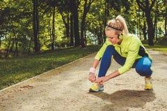 Runner running outdoors Stock Image