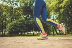 Runner running outdoors Royalty Free Stock Photography