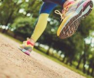 Runner running outdoors Stock Photography