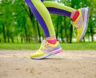 Runner running outdoors Royalty Free Stock Photo
