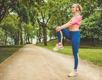 Runner running outdoors Royalty Free Stock Image