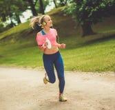 Runner running outdoors Royalty Free Stock Photo