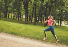 Runner running outdoors Stock Photo