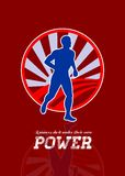 Runner Running Power Retro Poster Royalty Free Stock Images