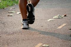 Running. Runner running on the road Stock Photography