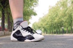Runner,running shoes closeup Stock Photography