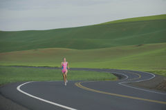 Runner on Rural Road Royalty Free Stock Photos