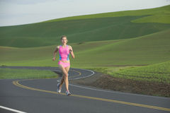 Runner on Rural Road Royalty Free Stock Images
