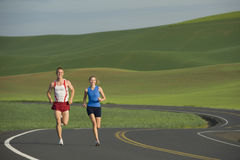 Runner on Rural Road Stock Image