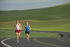 Runner on Rural Road stock image