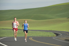 Runner on Rural Road Royalty Free Stock Photo