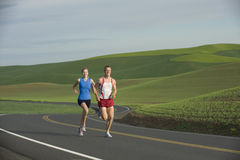 Runner on Rural Road Stock Images