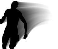 Runner Shadows. Three Shadows of Runners / Gradient Grey Royalty Free Illustration