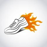 Runner shoes design Royalty Free Stock Photo
