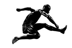 Runner silhouette Royalty Free Stock Images