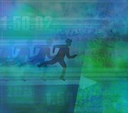 Runner silhouette on the abstract background Royalty Free Stock Photos