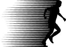 Runner. Silhouette - clip art illustration stock illustration