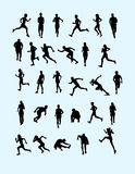 Runner Silhouette Collection Royalty Free Stock Photos
