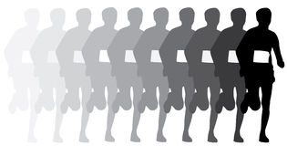 Runner silhouette  Royalty Free Stock Photography