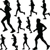 Runner silhouette. jogging Royalty Free Stock Images