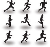 Runner silhouette vector Stock Images