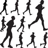 Runner silhouette vector stock photography