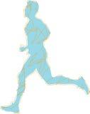 Runner silhouette vector Stock Images
