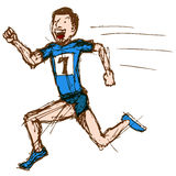 Runner Sketch Royalty Free Stock Photo