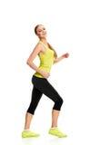 Runner smiling woman Stock Image