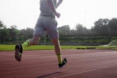 Runner in stadium Royalty Free Stock Photo
