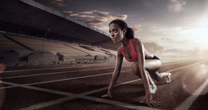 Runner on the start line. Sport. Runner on the start line stock photography