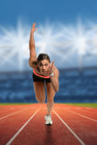 Runner at Starting Line Royalty Free Stock Image