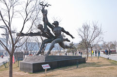 Runner statue. Beijing, China - April 2nd, 2013: runner statue in Olympic Green olympic park in Chaoyang District Stock Images