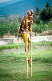 Runner on stilts Stock Image
