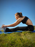 Runner Stretch Royalty Free Stock Photos