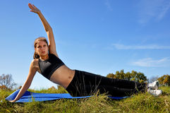 Runner Stretch Stock Photography