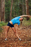 Runner Stretching Royalty Free Stock Image