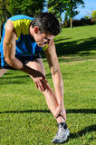 Runner Stretching Stock Images