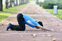 Runner Stretching out Royalty Free Stock Photos