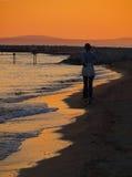 Runner in sunset Stock Images