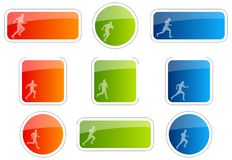 Runner symbol Royalty Free Stock Photography