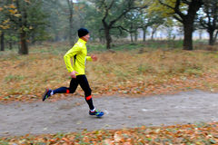 Runner takes part in amateur sports run competitions Stock Photography