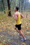 Runner takes part in amateur sports run competitions Royalty Free Stock Images